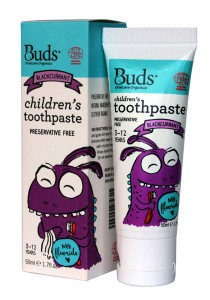 Buds: Children's Toothpaste with Fluoride C Blackcurrant 50gm