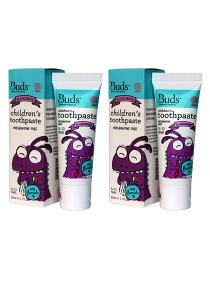[Best Buy for 2] Buds: Children's Toothpaste with Fluoride C Blackcurrant 50gm