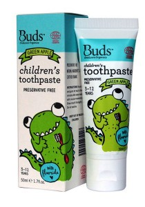 Buds: Children's Toothpaste with Fluoride - Green Apple 50gm