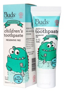Buds: Children's Toothpaste with Fluoride C Peppermint 50gm
