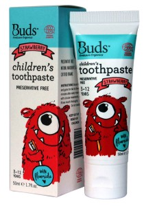 Buds: Children's Toothpaste with Fluoride C Strawberry 50gm