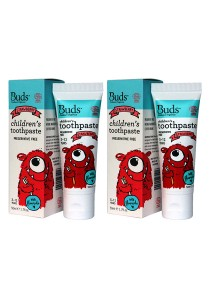 [Best Buy for 2] Buds: Children's Toothpaste with Fluoride C Strawberry 50gm