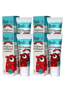 [Best Buy for 4] Buds: Children's Toothpaste with Fluoride C Strawberry 50gm