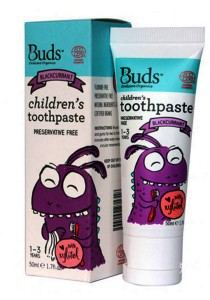 Buds: Children's Toothpaste with Xylitol C Blackcurrant 50gm