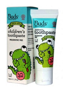 Buds: Children's Toothpaste with Xylitol - Green Apple 50gm