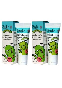 [Best Buy for 2] Buds: Children's Toothpaste with Xylitol - Green Apple 50gm