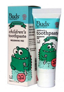 Buds: Children's Toothpaste with Xylitol C Peppermint 50gm