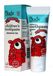 Buds: Children's Toothpaste with Xylitol C Strawberry 50gm