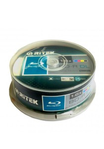Ritek Printable Blu-ray Disc 6x 50GB Cakebox25