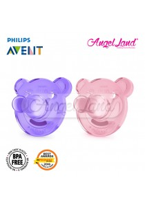 Philips Avent Soother Bear Shape Mix Colour 3m+ purple/pink