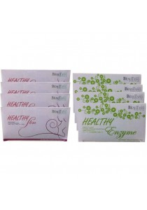 Beautang Healthy Slim 4 Boxes + Beautang Healthy Enzyme 4 Boxes Foc 2 Shaker Value Set (Organic Foodstuff From Japan)