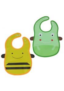 PVC Baby Bib (Wipe-clean Quality) - BB04 (Bee-Frog)