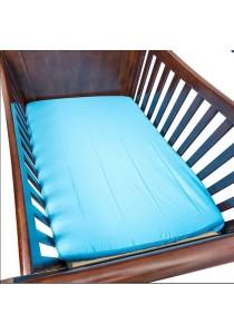 OWEN Crib Sheet for Baby Mattress - Stroll in the Park (Blue)