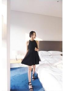 Halter Slim Short Dress (FFD-50013)