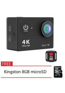 H9R Remote Control 2-Inch LCD Ultra-HD 4K Wifi Sports Action Camera + Kingston 8GB microSD