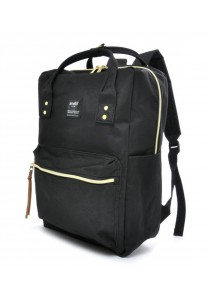 100 % Authentic Anello Square Backpack (Black)