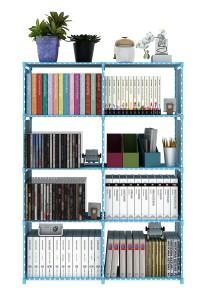 Book Storage 5 Tier with 8 Columns (Blue)