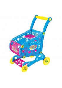 Kids Children Shopping Cart & Food Play Set