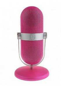 Bluetooth Portable Microphone with MP3 Player Speaker Pink