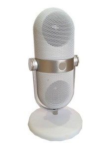 Bluetooth Portable Microphone with MP3 Player Speaker White