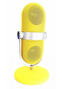 Bluetooth Portable Microphone with MP3 Player Speaker Yellow