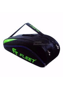 Fleet 2 Zips + Side + Shoe Compartment FT 306 Blue Green Badminton Bag