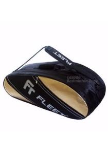 Fleet 2 Zips + Side + Shoe Compartment FT 307 Gold Silver Badminton Bag