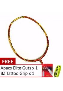 Apacs Virtuoso Performance Badminton Racket (Multicolor) Free AP Elite String and BZ Grip