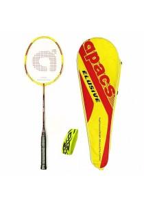 Apacs Elusif 3600 Free (Bz Grip + Elusif Cover)(Mix Color Cover) Prestrung Badminton Racket Package