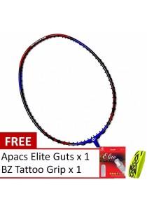 Apacs Lethal 6 Red Blue Free Gift (Apacs Elite Guts + BZ Grip) Badminton Racket