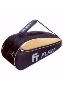 Fleet 2 Zips + Side + Shoe Compartment FT 205 Gold Gold Badminton Bag