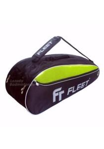 Fleet 2 Zips + Side + Shoe Compartment FT 305 Yellow Black Badminton Bag