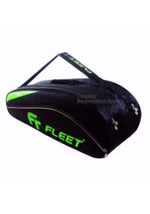 Fleet 2 Zips + Side + Shoe Compartment FT 306 Gold Green Badminton Bag