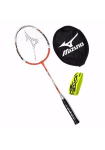 Mizuno Rapid Fire 6600 Red + Tattoo Grip + Racket Cover Beginner Badminton Racket