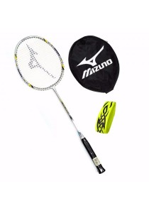 Mizuno Tech Fire 5500 Yellow + Tattoo Grip + Racket Cover Beginner Badminton Racket