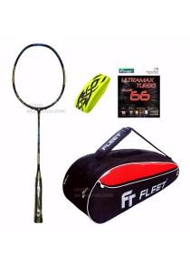 Fleet The Legend Rashid Sidek Limited + FT 305 Red Black Bag + FT Ultramax String + BZ Grip Badminton Racket Package Set