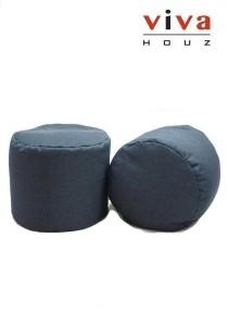 Bobby Round Bean Stool - Blue (Set of 2)