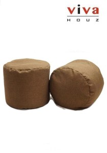Bobby Round Bean Stool - Brown (Set of 2)