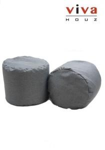 Bobby Round Bean Stool - Grey (Set of 2)