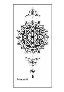 Henna Mandala Temporary Tattoos (Set Of 2)