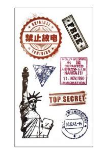 Travel Stamp Temporary Tattoos