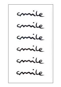 Smile Temporary Tattoos