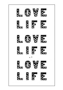 Love Life Temporary Tattoos