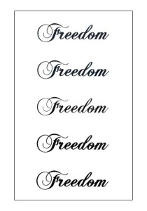 Freedom Temporary Tattoos