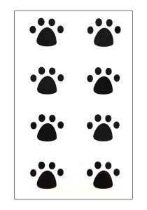 Dog Paws Temporary Tattoos
