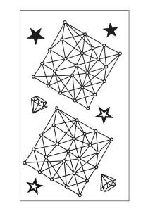 Geometric Fine Lines Temporary Tattoos