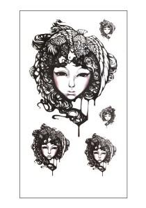 Lady Celestial Temporary Tattoos