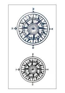 Compass Temporary Tattoos