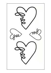 Free Hearts Temporary Tattoos
