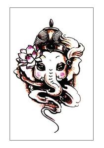 Majestic Elephant Temporary Tattoos